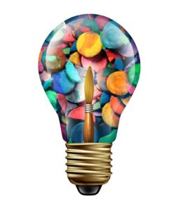 art therapy lightbulb